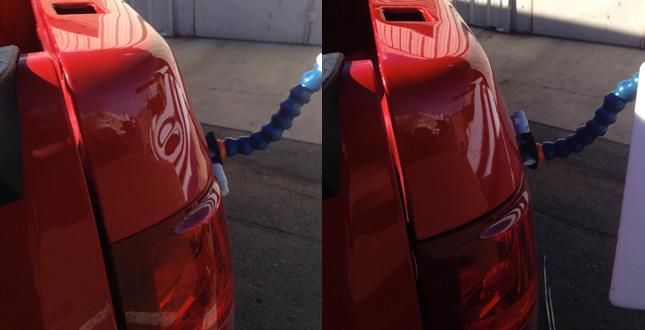 red truck dent repair