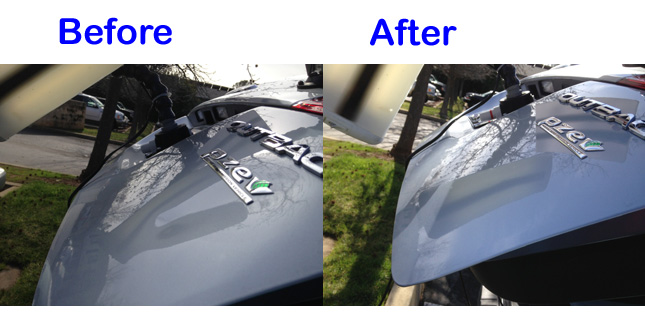 hatchback dent repair before and after